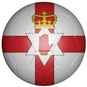 Northern Ireland Football Flag 25mm Button Badge